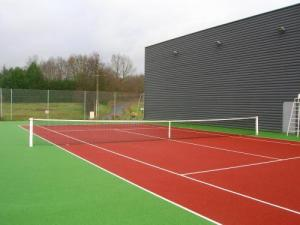 The outdoor tennis