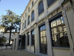 Facade and outdoor courtyard of the Armenian Heritage Centre