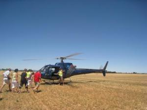 baptism by helicopter to the feast of lavender in July