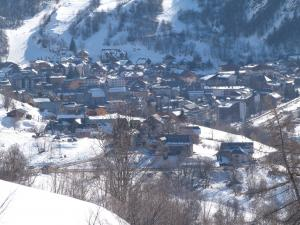 Valloire under the snow all winter