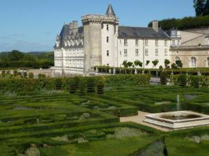 Villandry castle and its gardens