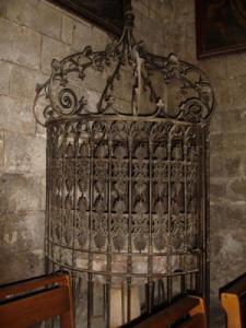 baptistery grille of the Notre-Dame