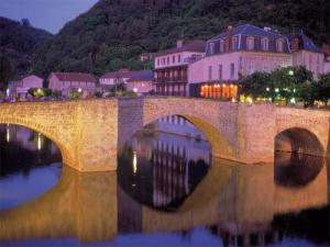 The old bridge Villefranche-de-Rouergue