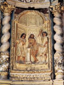 the altarpiece of the chapel of the black penitents in Villefranche-de-Rouergue