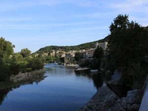 View on the banks of the Ardèche