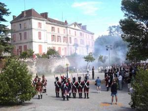 Napoleon crossing Reconstitution