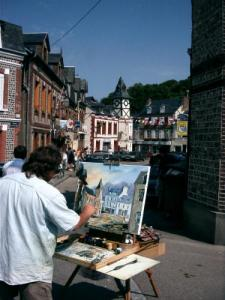 Painter in the village
