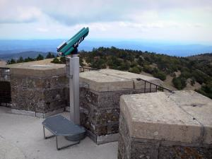 Aigoual mountains - Telescope of the tower of the meteorological observatory, in the Aigoual massif, in the Cévennes National Park (Cévennes massif)