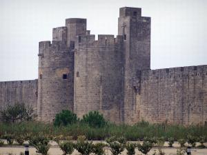 Aigues-Mortes - Queen's gate (Porte de la Reine) and ramparts of the fortified town