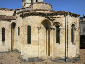 Airvault - Apse of the Saint-Pierre abbey church of Romanesque style