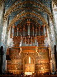 Albi - Inside of the Sainte-Cécile cathedral: organ