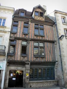 Alençon - Half-timbered facade of an old house
