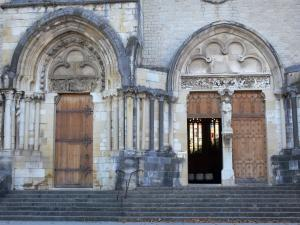 Ambronay abbey - Former Benedictine abbey (Cultural centre): portals of the abbey church