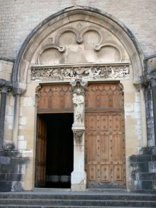 Ambronay abbey - Former Benedictine abbey (Cultural centre): portal of the abbey church