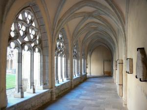 Ambronay abbey - Former Benedictine abbey (Cultural centre): gallery of the Gothic cloister