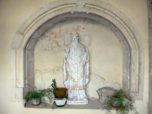 Ambronay abbey - Former Benedictine abbey (Cultural centre): statue of Saint Barnard