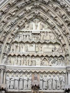 Amiens - Notre-Dame cathedral (Gothic style): tympanum of the South portal