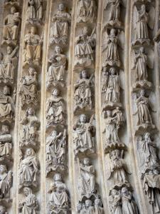 Amiens - Notre-Dame cathedral (Gothic style): sculptures
