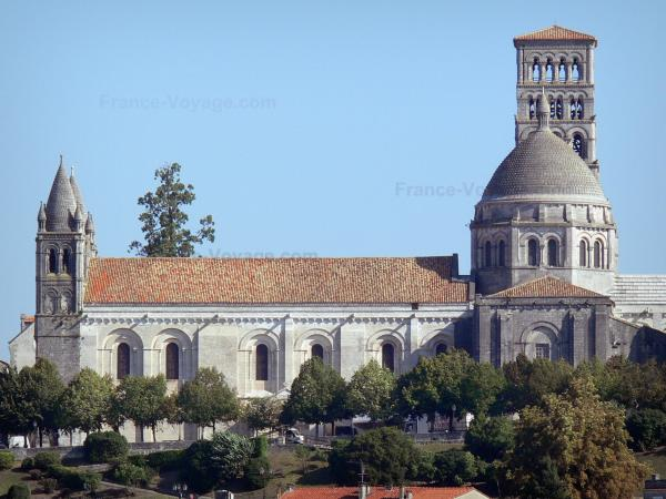 Angoulême - Saint-Pierre cathedral and trees