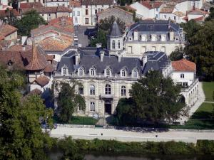 Angoulême - Charente river, houses and houses of the low city (Charente valley)