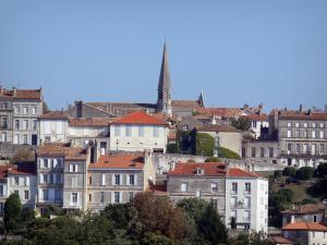 Angoulême - Bell tower of the ancient Cordeliers chapel, houses and buildings of the city