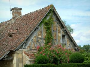 Apremont-sur-Allier - Berry house decorated with flowers and creepers