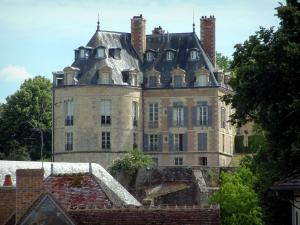 Apremont-sur-Allier - Castle and roofs of the houses in the village