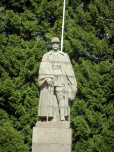 Armistice clearing - In the Compiègne forest (near the village of Rethondes), statue of marshal Foch