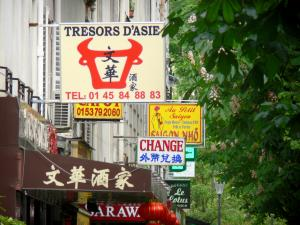 Asian district - Signs in the Chinatown district