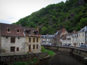 Aubusson - The River Creuse and houses of the city