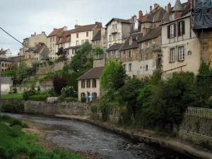 Aubusson - Houses dominating the River Creuse