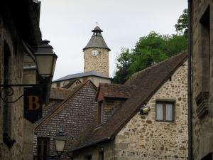 Aubusson - The Horloge tower (former watchtower) and houses in the old town