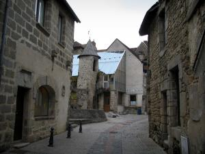 Aubusson - Street and houses in the old town