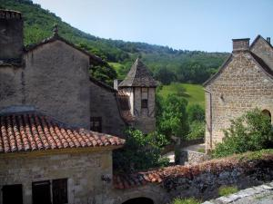 Autoire - Houses of the village, in the Quercy