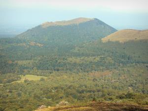 Auvergne Volcanic Regional Nature Park - Landscape of the Puys volcanoes