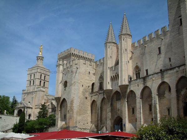 Avignon - Palace of the Popes and the Notre-Dame-des-Doms cathedral