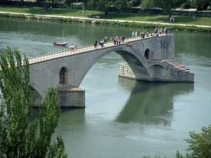 Avignon - Saint-Bénezet bridge (Pont d'Avignon) and the Rhone river