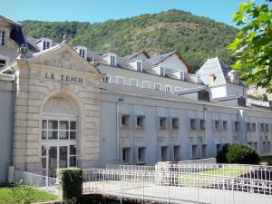 Ax-les-Thermes - Spa town: facade of Le Teich thermal baths