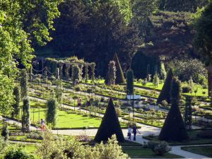 Bagatelle park - View of the rose garden