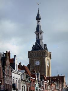 Bailleul - Bell tower and houses of the city