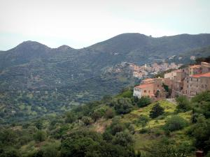 Balagne region - Villages surrounded by trees and hills