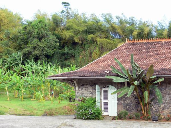 Banana museum - Residential Limbe, in the municipality of Sainte-Marie: old building housing the museum Banana and Banana Plantation Park