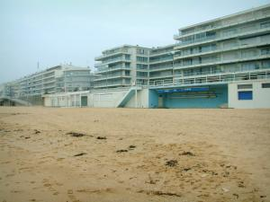 La Baule - Buildings and sandy beach of the seaside resort