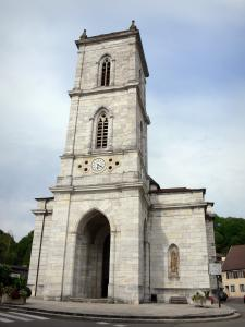 Baume-les-Dames - Bell tower hall of the Saint-Martin church