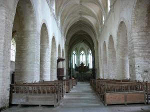 Baume-les-Messieurs - Abbey: nave of the abbey Saint-Pierre church