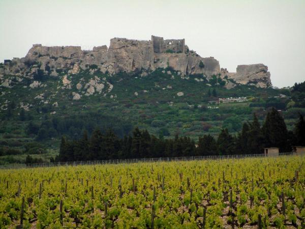 Les Baux De Provence   Alpilles Limestone Mountain Range With The Baux  Castle (