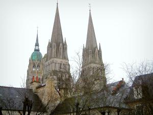 Bayeux - Towers of the Notre-Dame cathedral