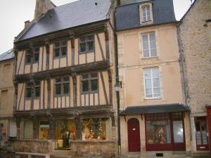 Bayeux - Conservatoire of Bayeux Lace, timber-framed house and houses in the medieval town