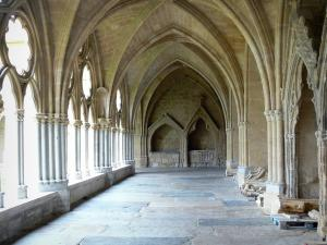 Bayonne - Cloister gallery in the Sainte-Marie cathedral