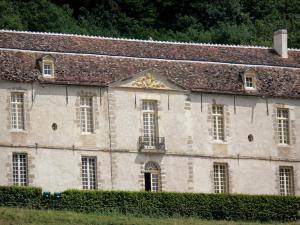 Bazoches castle - Former residence of Marshal Vauban: facade of the feudal castle; in the Morvan Regional Nature Park